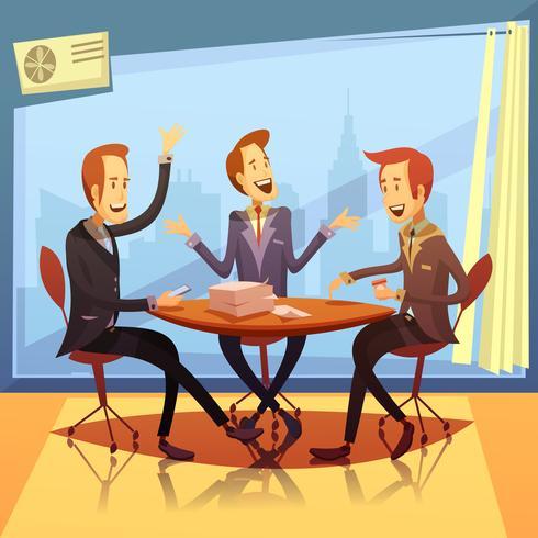 Illustrazione di riunione d'affari vettore