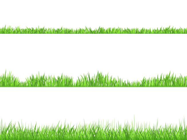 Green Grass Flat Horizontal Banners Set vektor