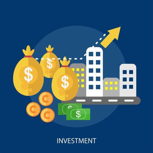 Investition konzeptionelle Illustration Design