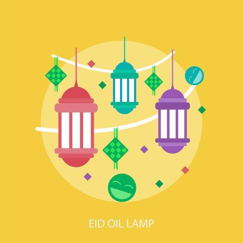Eid-Öl-Lampen-Begriffsillustration Design
