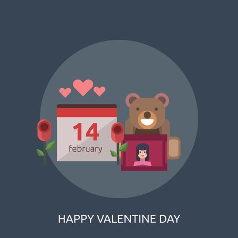 Feliz día de San Valentín ilustración conceptual diseño