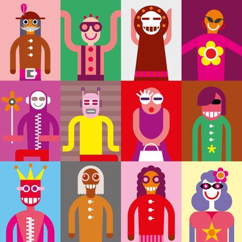People - vector wallpaper