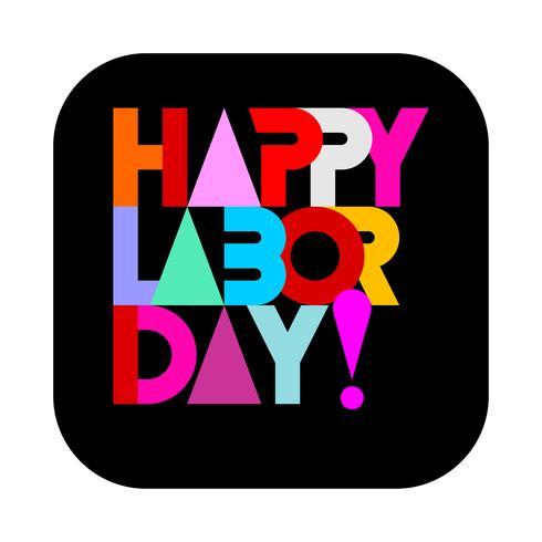 Happy Labor Day text design