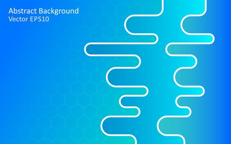 Fondo de vector abstracto azul, diseño de plantillas