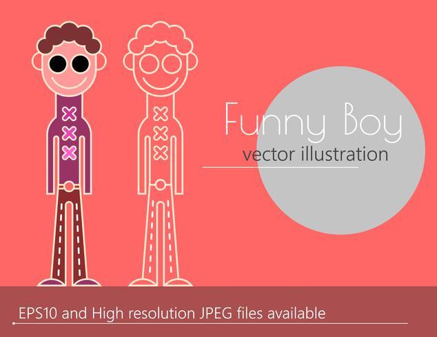 Funny boy vector illustration