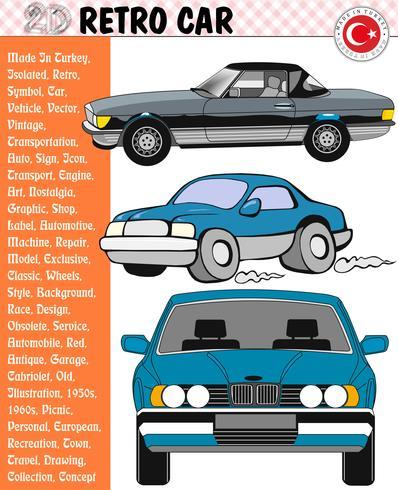 Car, Retro Car, Car Stories, eps, vector