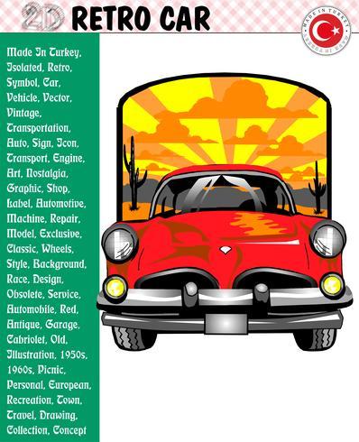 Coche, Coche retro, Historias de coches, eps, vector