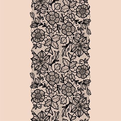 Seamless Pattern de ruban de dentelle abstraite.