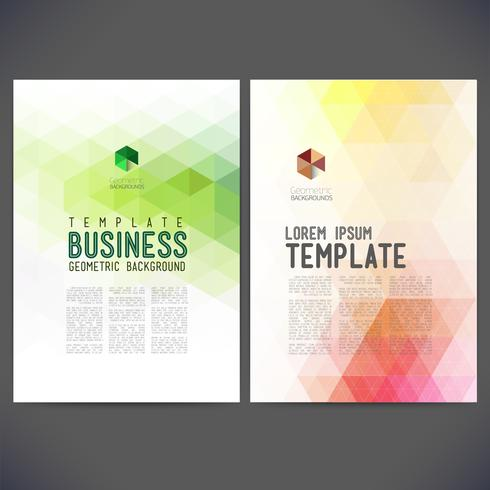 Abstract vector template design, brochure, sites Web, page, dépliant