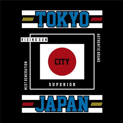 bild tokyo, Japan typografi design för t-shirt