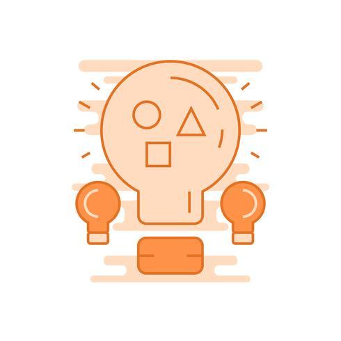 Ideen Illustration. Flache Linie entworfenes Konzept mit orangen Farben, für mobile Apps oder andere Zwecke
