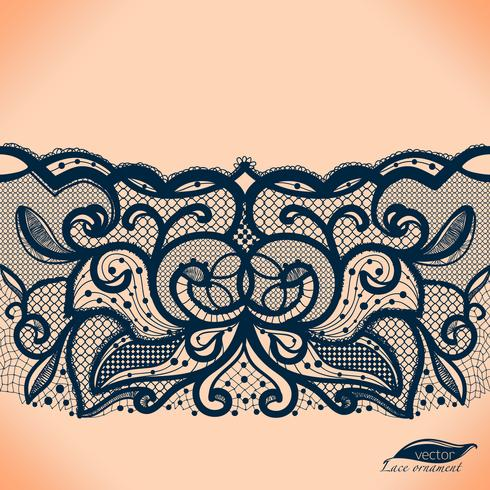 Vector de encaje transparente tapete. Puede ser utilizado para el embalaje, invitaciones y plantilla.