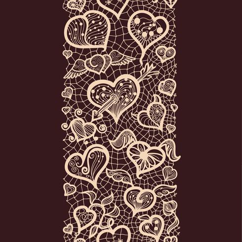 Abstraktes Muster mit nahtlosen Musterdarstellungen der Spitzen- Valentinsgrüße für Postkarten und Grüße, Vektorformat für Ihr Design