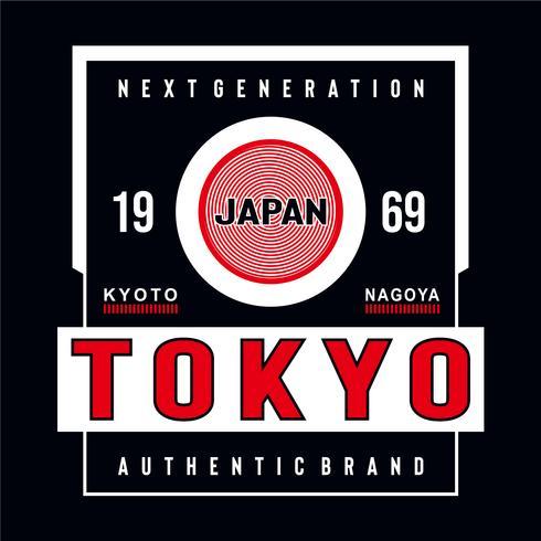 Japan Tokyo typografhy Entwurfst-stück für T-Shirt
