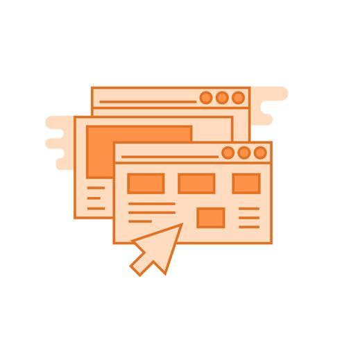 Website illustratie. Platte lijn ontworpen concept met oranje kleuren, voor mobiele apps of andere doeleinden