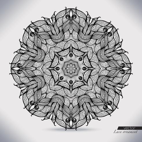 Abstraktes Kreisspitzen-Bandmuster. Die Spitze zur Dekoration.