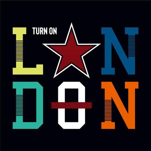 Londres enciende diseño tipografía gráfica