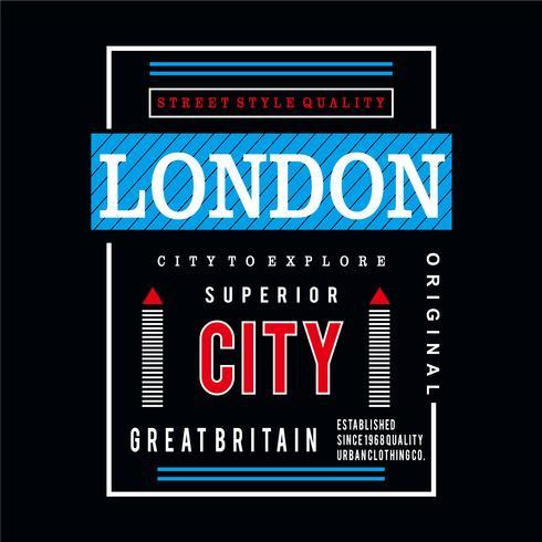 Londen ontwerp grafische typografie
