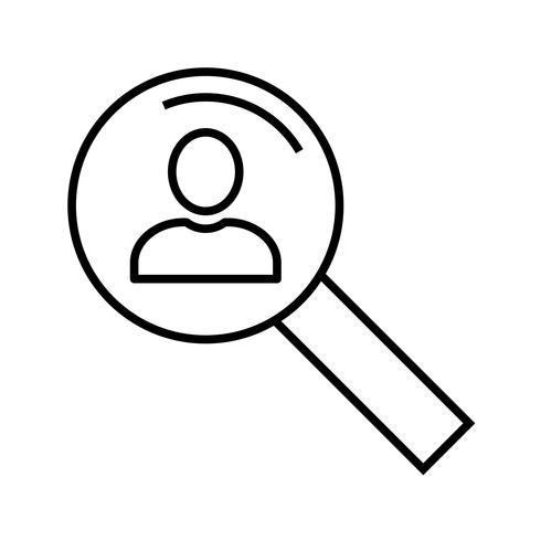 Icône de recherche de ligne noire vecteur