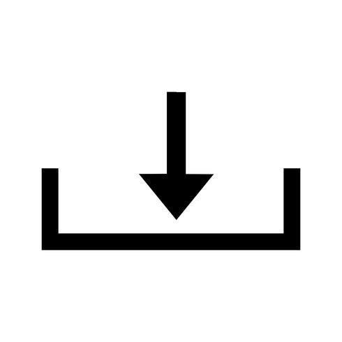Down Glyph Black Icon