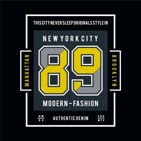 Diseño moderno de tipografía de moda para camiseta y otros usos.