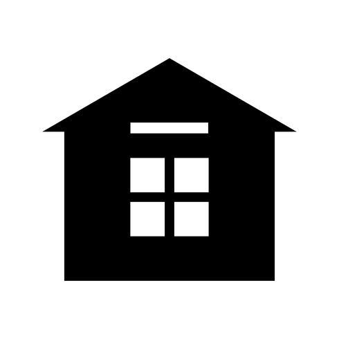 Casa Glifo Preto Ícone