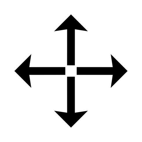 Icono de pantalla completa de glifo negro vector