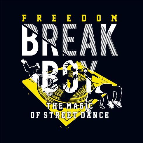 Break Boy tipografia design tee para camiseta imprimir outros usos vetor