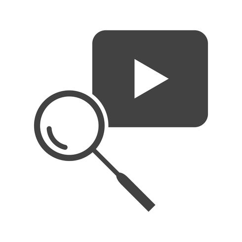 Youtube Zoeken Glyph Black Icon
