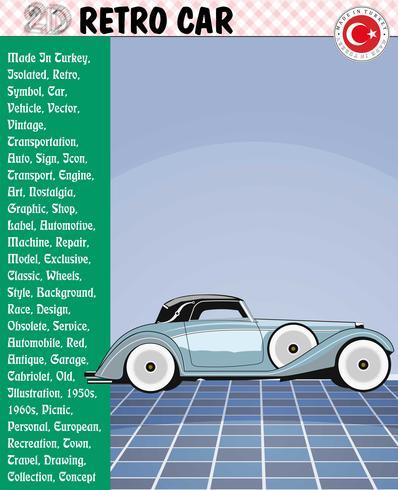 Bil, Retrobil, Bilberättelser, eps, vektor