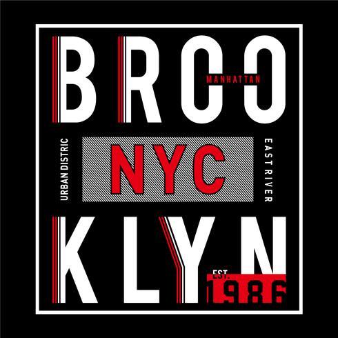 Ontwerp vectortypografie Brooklyn voor t-shirt