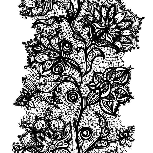 Seamless Pattern de ruban de dentelle abstraite. Illustration vectorielle, modèle