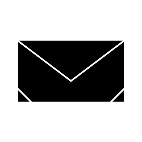 Envelop Glyph Black pictogram