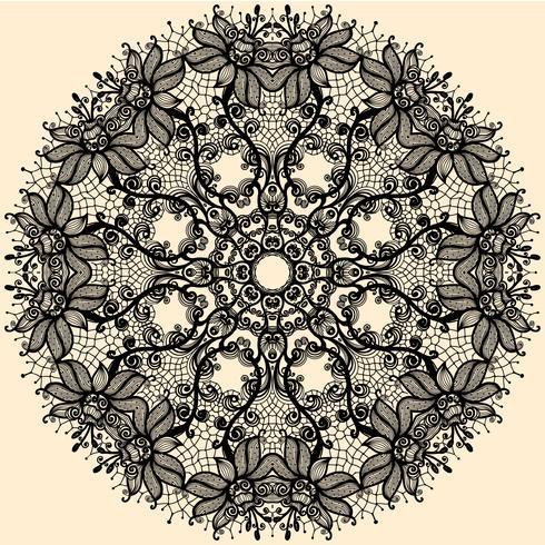 Ruban de dentelle cercle abstrait Vector