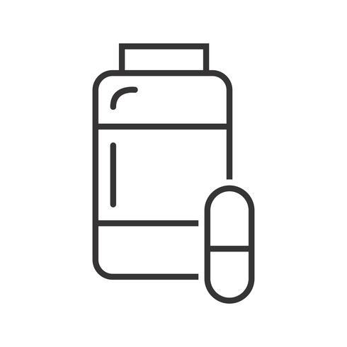Icona della linea nera della medicina vettore