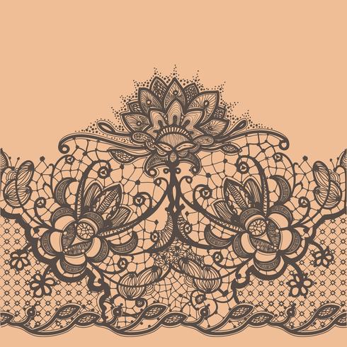 Seamless Pattern de ruban de dentelle abstraite. Modèle de cadre pour la carte.