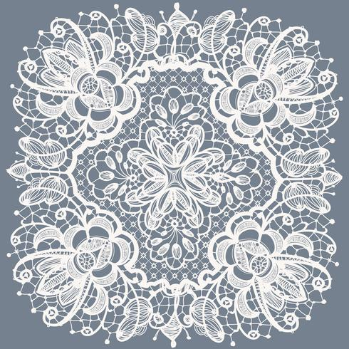 Abstraction floral lace pattern