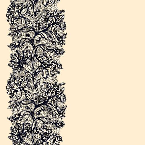 Abstract Lace Ribbon Seamless Pattern. vector