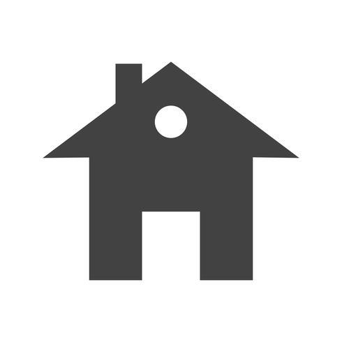 Huis Glyph Black pictogram