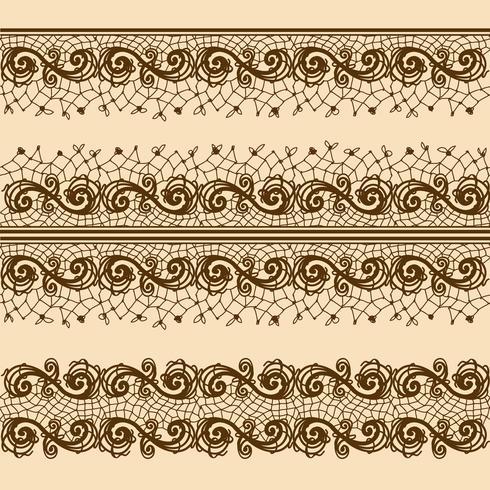 Spitzenstreifen für Dekoration und Design. Vorlagenrahmendesign für Karten.