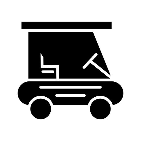 Golf Buggie Glyph Black pictogram