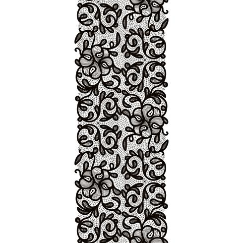 Seamless Pattern de ruban de dentelle