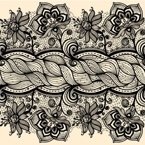 Abstract Lace Ribbon Seamless Pattern.