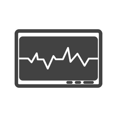 ecg glyph black icon vector