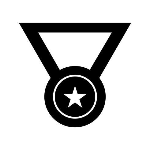Icona del glifo con medaglia nera vettore
