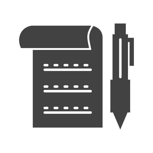 Document glyph zwarte pictogram