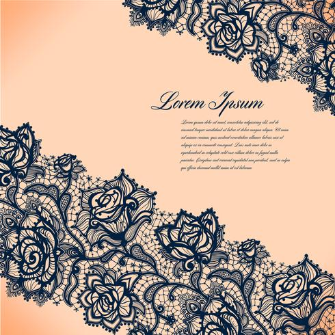 Abstrakt lacy mönster av elementen flowers.Vector bakgrund.