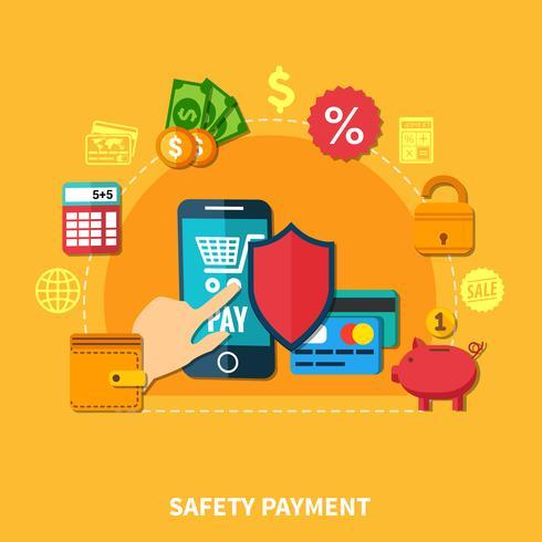 E-handel platt sammansättning vektor