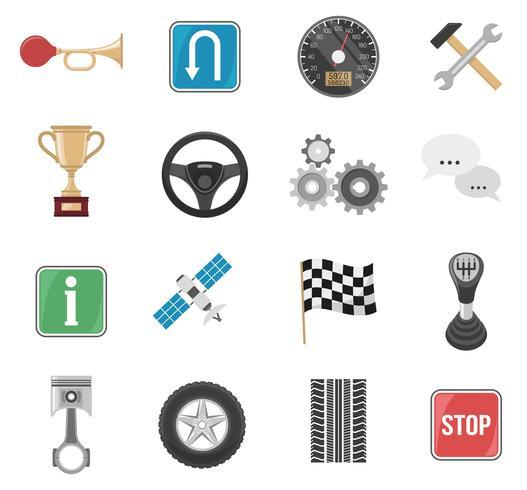 Rennwagen-Icon-Set