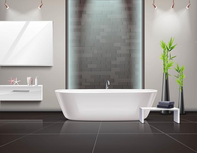 Intérieur de salle de bain réaliste